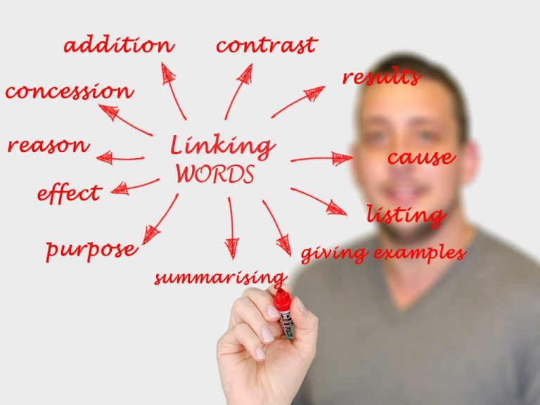 Linking words exercises