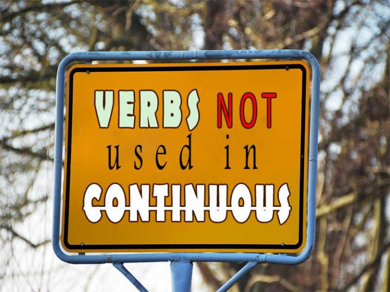 Verbs not used in the continuous