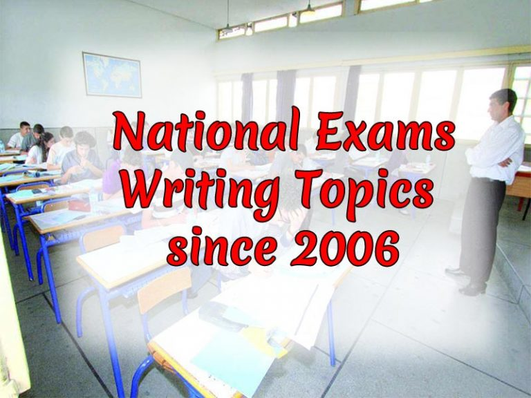 National Exams Writing Topics