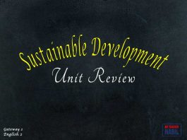 Unit Sustainable Development Review
