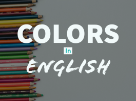Colors in English
