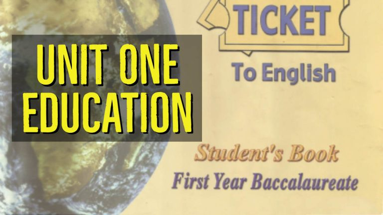 Ticket to English 1 Unit 1 Education